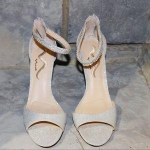 Ankle strap, open toe heel